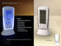Backlit table clock