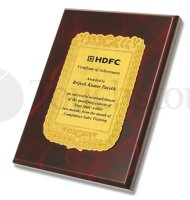 Hdfc Plaque